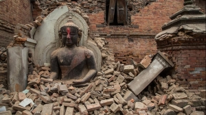 Sacred temples in Bhaktapur ruined by the Earthquake