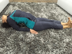 Matsyasana (fish pose) is a great pose to help lengthen your facial and neck muscle and get your blood flowing to your face!